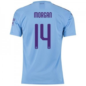 Manchester City Cup Authentic Home Shirt 2019-20 with Morgan 14 printing