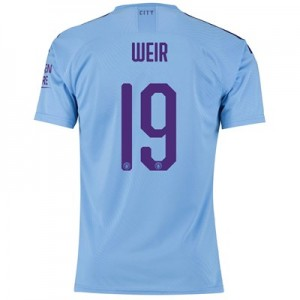 Manchester City Cup Authentic Home Shirt 2019-20 with Weir 19 printing