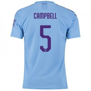 Manchester City Cup Authentic Home Shirt 2019-20 with Campbell 5 printing