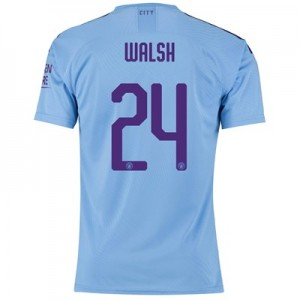 Manchester City Cup Authentic Home Shirt 2019-20 with Walsh 24 printing