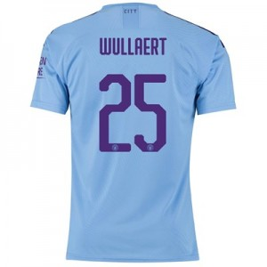 Manchester City Cup Authentic Home Shirt 2019-20 with Wullaert 25 printing