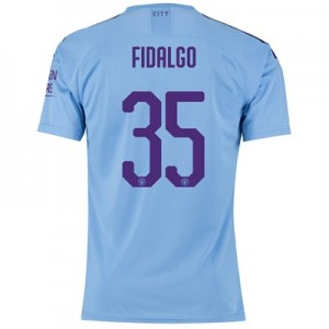 Manchester City Cup Authentic Home Shirt 2019-20 with FIDALGO 35 printing