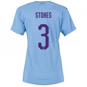Manchester City Cup Authentic Home Shirt 2019-20 - Womens with Stokes 3 printing