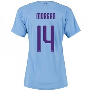 Manchester City Cup Authentic Home Shirt 2019-20 - Womens with Morgan 14 printing