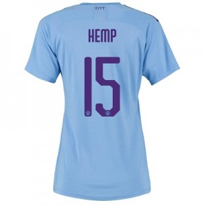 Manchester City Cup Authentic Home Shirt 2019-20 - Womens with Hemp 15 printing