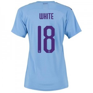 Manchester City Cup Authentic Home Shirt 2019-20 - Womens with White 18 printing