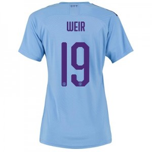 Manchester City Cup Authentic Home Shirt 2019-20 - Womens with Weir 19 printing