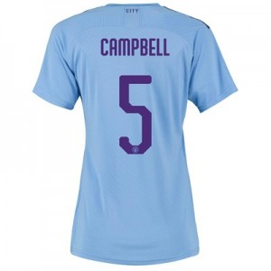 Manchester City Cup Authentic Home Shirt 2019-20 - Womens with Campbell 5 printing
