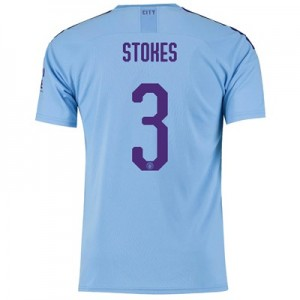 Manchester City Cup Home Shirt 2019-20 with Stokes 3 printing