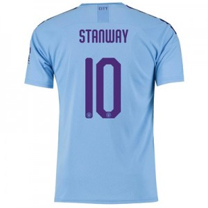 Manchester City Cup Home Shirt 2019-20 with Stanway 10 printing