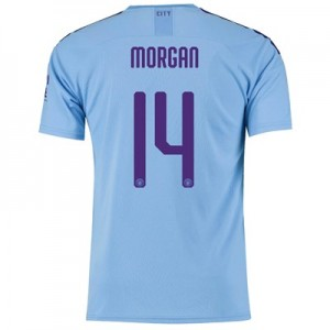 Manchester City Cup Home Shirt 2019-20 with Morgan 14 printing