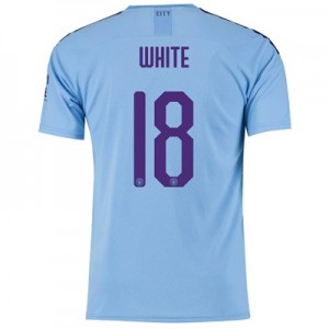 Manchester City Cup Home Shirt 2019-20 with White 18 printing