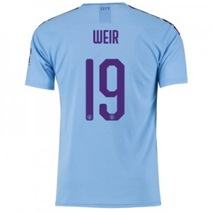 Manchester City Cup Home Shirt 2019-20 with Weir 19 printing