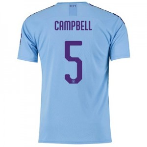 Manchester City Cup Home Shirt 2019-20 with Campbell 5 printing