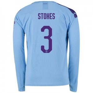 Manchester City Cup Home Shirt 2019-20 - Long Sleeve with Stokes 3 printing