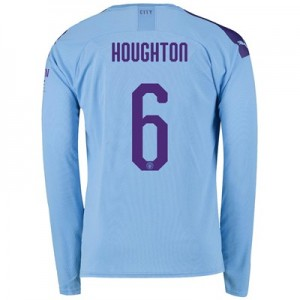 Manchester City Cup Home Shirt 2019-20 - Long Sleeve with Houghton 6 printing