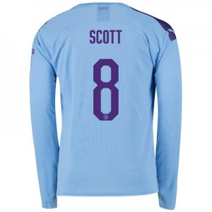 Manchester City Cup Home Shirt 2019-20 - Long Sleeve with Scott 8 printing
