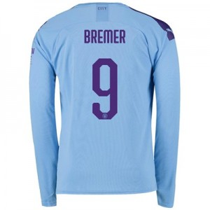 Manchester City Cup Home Shirt 2019-20 - Long Sleeve with Bremer 9 printing