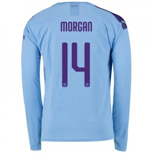 Manchester City Cup Home Shirt 2019-20 - Long Sleeve with Morgan 14 printing