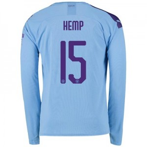Manchester City Cup Home Shirt 2019-20 - Long Sleeve with Hemp 15 printing