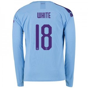 Manchester City Cup Home Shirt 2019-20 - Long Sleeve with White 18 printing
