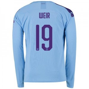 Manchester City Cup Home Shirt 2019-20 - Long Sleeve with Weir 19 printing