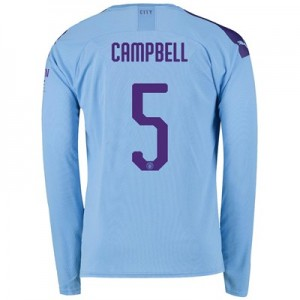 Manchester City Cup Home Shirt 2019-20 - Long Sleeve with Campbell 5 printing