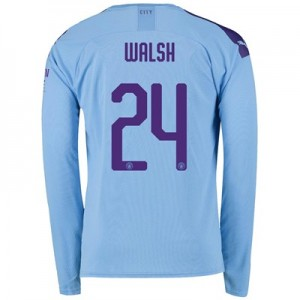 Manchester City Cup Home Shirt 2019-20 - Long Sleeve with Walsh 24 printing