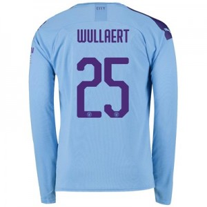 Manchester City Cup Home Shirt 2019-20 - Long Sleeve with Wullaert 25 printing