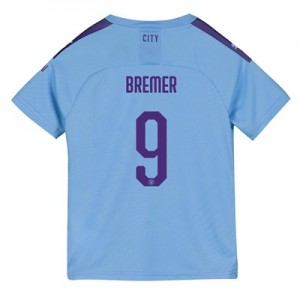 Manchester City Cup Home Shirt 2019-20 - Kids with Bremer 9 printing