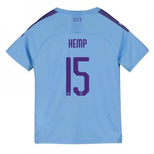 Manchester City Cup Home Shirt 2019-20 - Kids with Hemp 15 printing