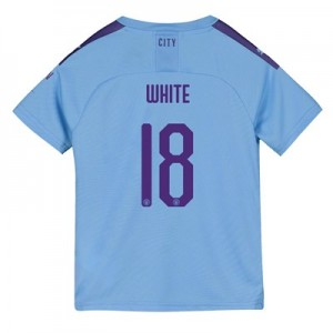 Manchester City Cup Home Shirt 2019-20 - Kids with White 18 printing