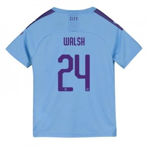 Manchester City Cup Home Shirt 2019-20 - Kids with Walsh 24 printing