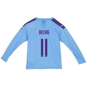 Manchester City City Home Shirt 2019-20 - Long Sleeve - Kids with BECKIE 11 printing