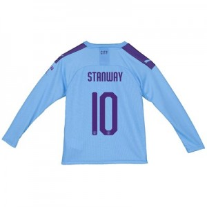 Manchester City City Home Shirt 2019-20 - Long Sleeve - Kids with Stanway 10 printing