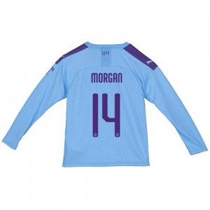 Manchester City City Home Shirt 2019-20 - Long Sleeve - Kids with Morgan 14 printing