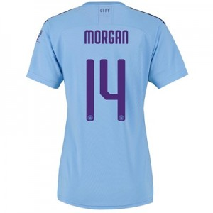 Manchester City Cup Home Shirt 2019-20 - Womens with Morgan 14 printing