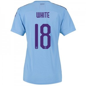 Manchester City Cup Home Shirt 2019-20 - Womens with WHITE 18 printing