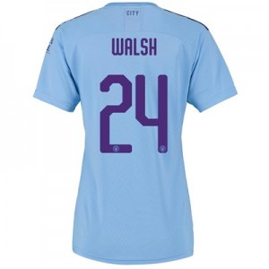 Manchester City Cup Home Shirt 2019-20 - Womens with Walsh 24 printing