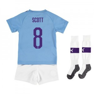 Manchester City Cup Home Mini Kit 2019-20 with Scott 8 printing