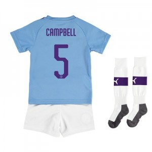 Manchester City Cup Home Mini Kit 2019-20 with Campbell 5 printing