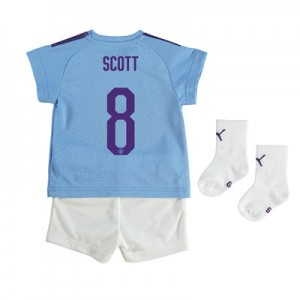 Manchester City Cup Home Baby Kit 2019-20 with Scott 8 printing