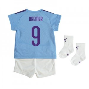 Manchester City Cup Home Baby Kit 2019-20 with Bremer 9 printing
