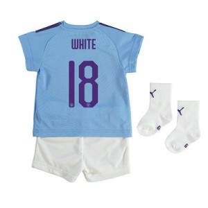 Manchester City Cup Home Baby Kit 2019-20 with WHITE 18 printing