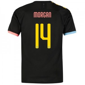 Manchester City Cup Authentic Away Shirt 2019-20 with Morgan 14 printing