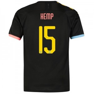 Manchester City Cup Authentic Away Shirt 2019-20 with Hemp 15 printing