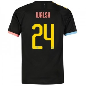 Manchester City Cup Authentic Away Shirt 2019-20 with Walsh 24 printing