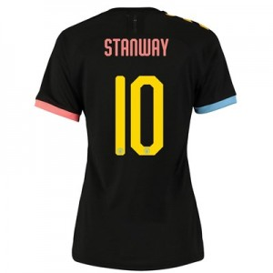 Manchester City Cup Authentic Away Shirt 2019-20 - Womens with Stanway 10 printing