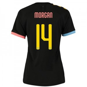 Manchester City Cup Authentic Away Shirt 2019-20 - Womens with Morgan 14 printing