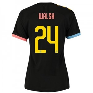 Manchester City Cup Authentic Away Shirt 2019-20 - Womens with Walsh 24 printing